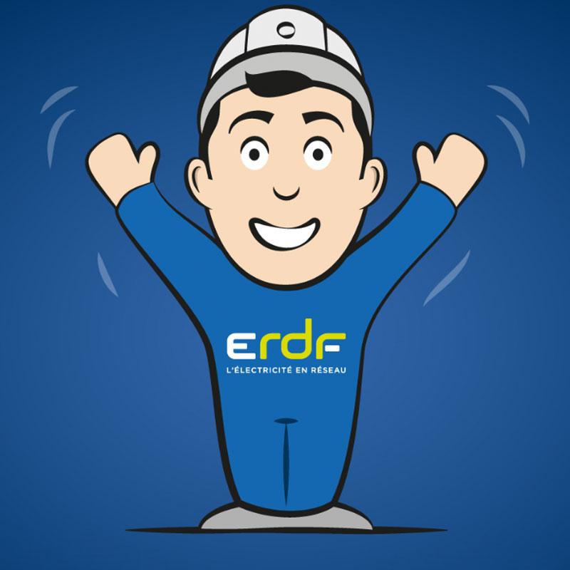 création graphique ERDF