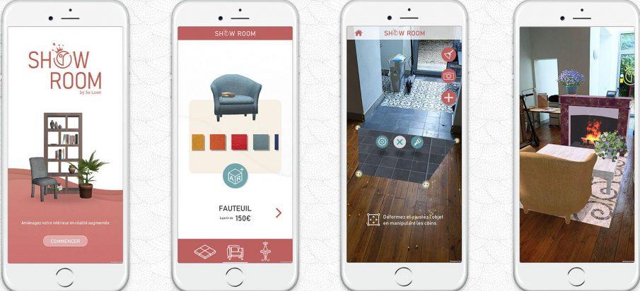 Application réalité virtuelle Showroom